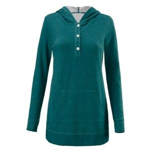 CAbi Teal Green #3321 No Sweat Hoodie
